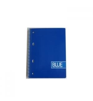 Caderno Espiral Gold Blue A5 Pautado 70grs 80Fls Azul