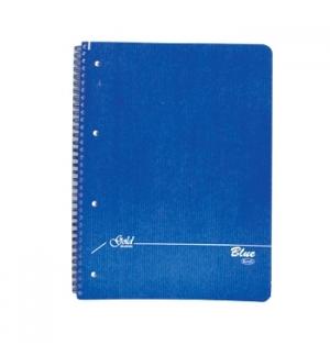 Caderno Espiral A4 Quadriculado Capa Kraft 75Fl 70gr 4Fur Az