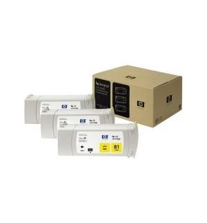 Tinteiro DesignJet 5000/5500 (C5069A) N81 Amarelo Pack 3