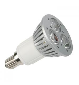 Lampada LED 3x1W branco quente (2700K) - 230V - E14