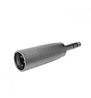 Adaptador XLR 3P macho/Jack 6,35mm macho stereo