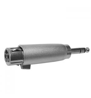 Adaptador XLR 3P fêmea/Jack 6,35mm macho stereo