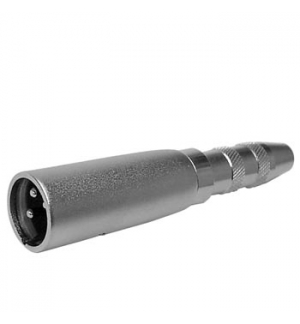 Adaptador XLR 3P macho/ Jack 6,35mm fêmea stereo