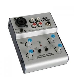 Mini misturador de audio USB