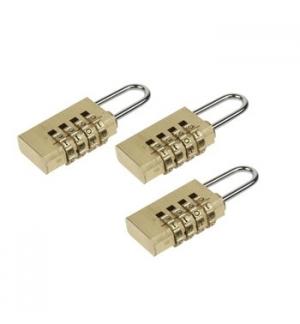 Cadeado de 20mm c/ codigo em pack de 3un