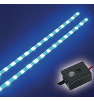 Fita LED auto-adesiva dupla 12VDC Azul c/ boto ON / OFF