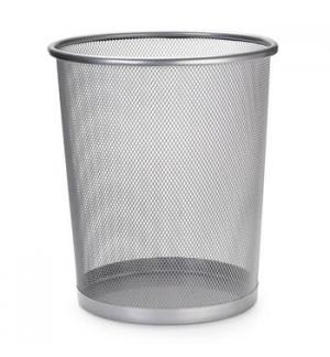 Caixote para lixo em rede metalica 265x285mm Prata