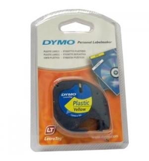 Fita Gravacao Dymo 12mmx4m Preto/Amarelo (91202)