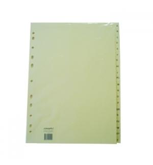 Separadores Cartolina A4 Indice A-Z