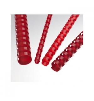 Argolas Pvc Encadernar 06mm Vermelho para 20 Folhas Cx 100un