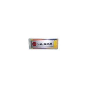 Sinaletica (Nao Passar) Plastico Adesivo 17x55mm