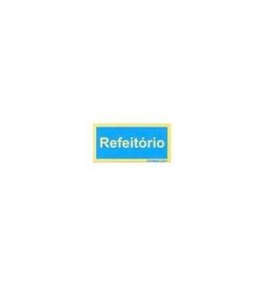 Sinaletica (Refeitorio) Plastico Adesivo 17x55mm