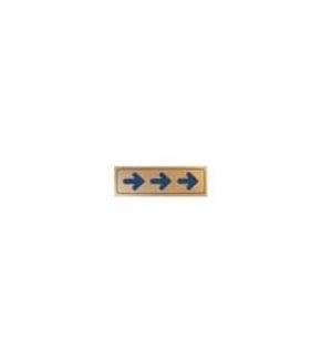 Sinaletica ( ) Plastico Adesivo 17x55mm