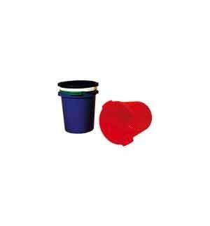 Cesto Papeis Plastico Vermelho Opaco 18 Litros