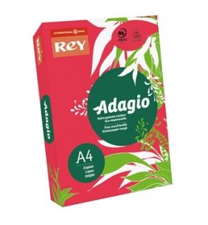 Papel Fotocopia Adagio(cd22) A4 80gr (Vermelho Intenso) 1x50