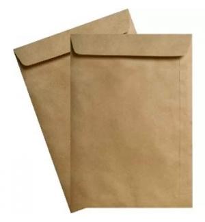 Envelopes Saco 250x353mm Kraft Autodex Pack 50un