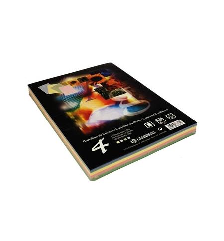 Cartolina 180gr 100 folhas A4 (4 Cores) (37331)