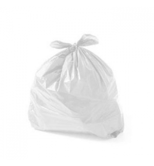 Sacos Lixo Plast 30Lts c/Fecho Branco 18my (55x60cm) (15un)