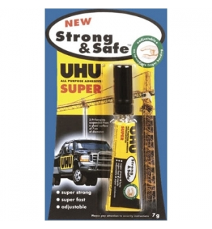 Cola Rapida UHU Strong & Safe 7gr - Blister 1un