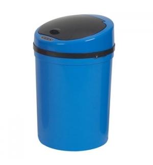 Cesto Papeis Plastico c/Sensor 9 Litros-Azul