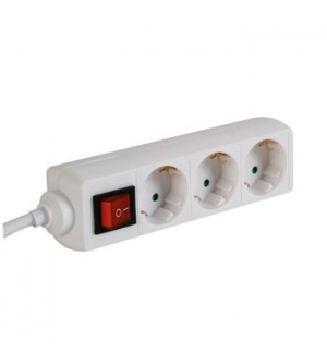Bloco c/3 Tomadas+Interruptor e Cabo 3mts