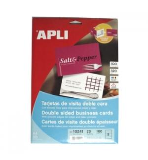 Cartoes Visita InkJet-Laser Matte 320gr 85x54mm Apli (100un)