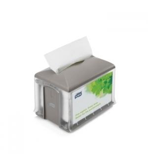 Dispensador p/200 Guardanapos TORK N4 Cinzento