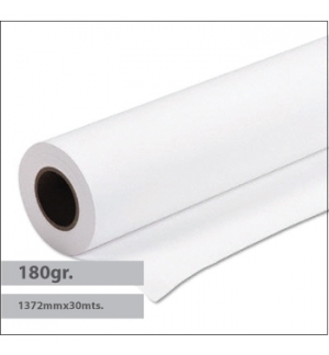 Papel Premium Coated 180gr 1372mmx30mts - 1 Rolo