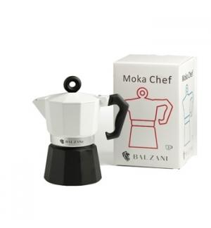Moka Cafe BALZANI Chef 3 Chavenas Branco/Preto