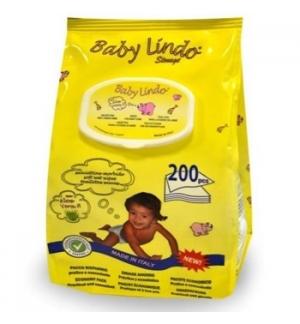Toalhitas BABY LINDO Bebé Aloe Vera 200un