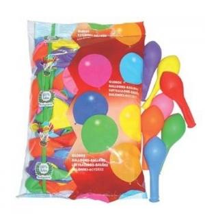 Balões Redondos Látex Cores Sortidas Pack 100un