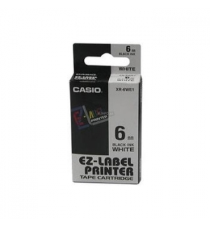 Fita para Gravacao para etiquetadora 6mm Preto/Branco