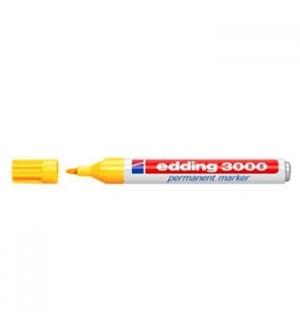 Marcador Grosso Edding 3000 Amarelo Cx 10un