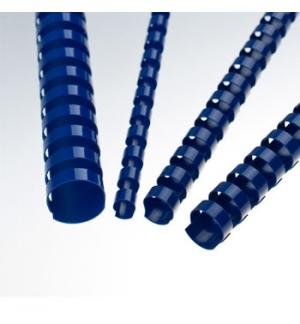 Argolas Pvc Encadernar 06mm 20 Folhas Cx100un Azul