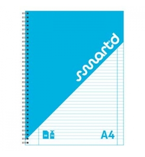 Caderno Espiral SmartD Capa Cartolina A4 Pautado