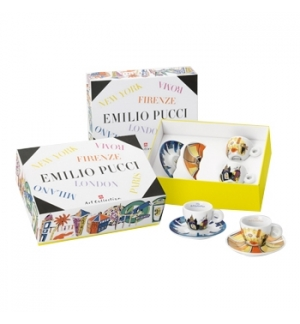 Conj ChavPires Esp Illy Art Collection Emilio Pucci 2un