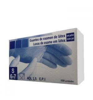 Luvas Latex c/Po Super Finas Tamanho (S) - (Pack 100un)