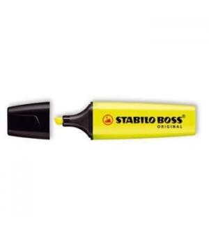 Marcador Fluorescente Stabilo Boss Amarelo 70/24 Cx 10un