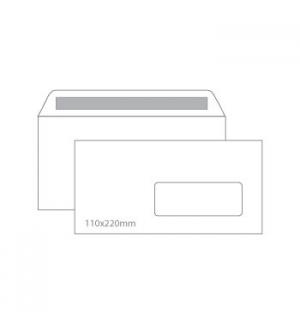 Envelopes 110X220mm c/janela Cx 500un Autodex