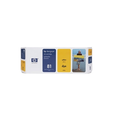 Tinteiro DesignJet 5000/5000PS/5500 (C4933A) N81 Amarelo