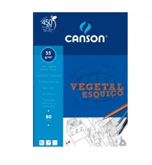 Papel Vegetal (Esquico) Canson A4 55gr 80 Folhas