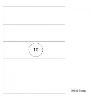 Etiquetas 105x70 Multi3 100 Folhas A4 1000un