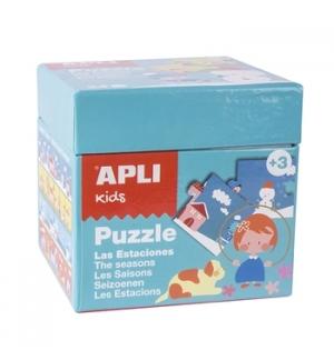 Jogo Puzzle Apli Kids Tema 4 Estacoes 24 Pecas