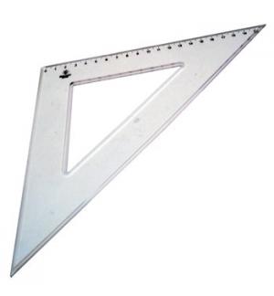 Esquadro Plastico Cristal SmartD 45 - 21cm - 1un