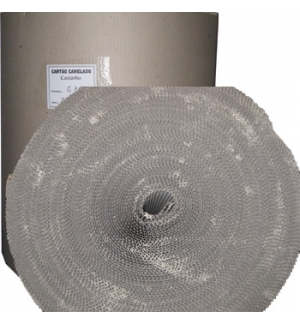 Cartao Canelado Castanho 70cmx60m Bobine (/- 18kg)