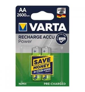 Pilhas Recarregaveis Varta 2600mAh AA HR6 12V Pack2 (5716)