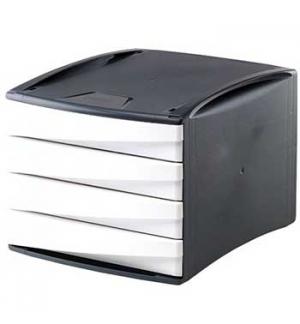 Modulo Arquivo 4 Gavetas Cinz./Branco Green Desk