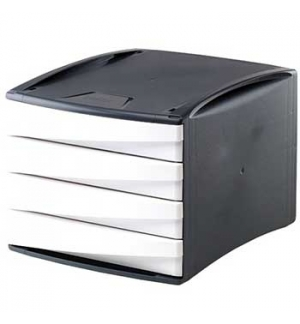 Modulo Arquivo 4 Gavetas Cinz/Branco Green Desk