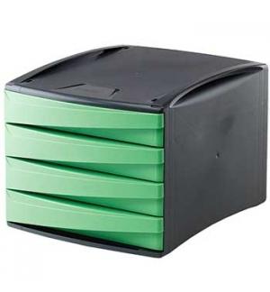 Modulo Arquivo 4 Gavetas Cinz/Verde Green Desk