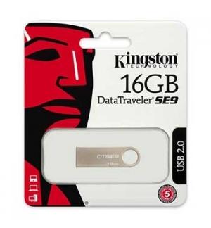 Flash Drive 16GB Kingston DataTraveler SE9 Prata USB 20